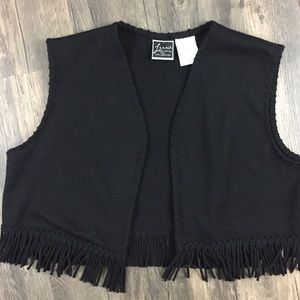 Lennie for Nina Leonard fringe vest